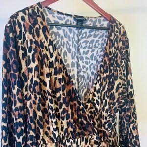 Lane Bryant Plus Women's Leopard Print Wrap Dress